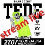 100 lat dla TEDE! Transmisja live urodzinowego koncertu rapera do obejrzenia na NuPlays 27 lipca