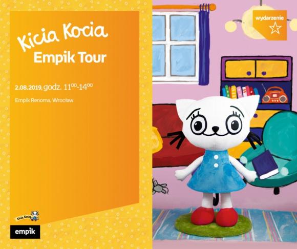 Kicia Kocia rusza w tournée po 8 miastach w Polsce   Wrocław LIFESTYLE, Książka - 2 sierpnia Kicia Kocia spotka się z młodymi fanami w salonie Empik Renoma
